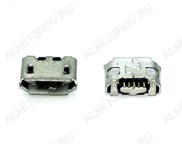 Разъем (3896) MICRO USB 5pin гнездо на плату (PU04)