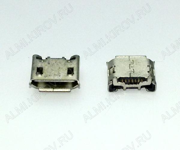 Разъем (3899) MICRO USB 7pin гнездо на плату (PU09)