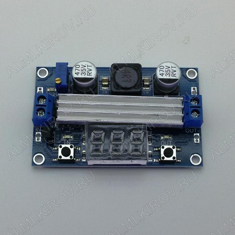 Радиоконструктор Преобразователь DC/DC в 3,5...30В(6А) из 3...30В (LTC1871) Повышающий-понижающий. С вольтметром. Uвх.3...30 В; Uвых.3,5...30 В;Входной ток: до 9АВыходной ток: до 6А