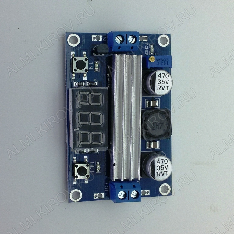 Радиоконструктор Преобразователь DC/DC в 3,5...35В(9А) из 3...35В (CNSY-5.0V02) Повышающий-понижающий. С вольтметром.