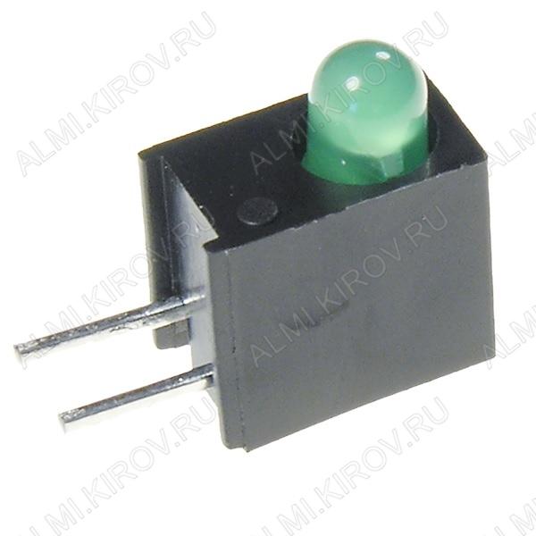 Светодиод L-934EW/1GD(L-7104EW/1GD)  3мм зелёный 20mcd 60°; 20mA; 565nm; матовый_зелёный;  в_корпусе