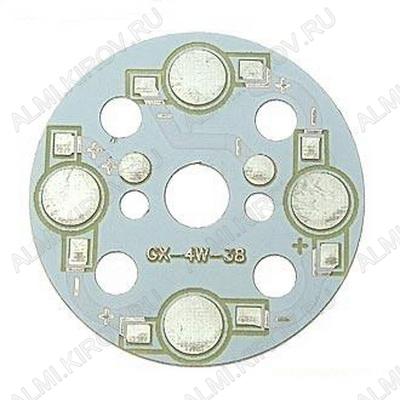 Плата алюминиевая 4x1W 1color d=38мм для светодиодов EMITTER