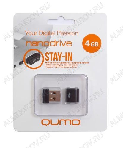 Карта Flash USB 4 Gb (NanoDrive Black mini) USB 2.0