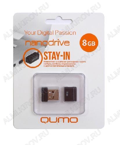 Карта Flash USB 8 Gb (NanoDrive Black mini) USB 2.0