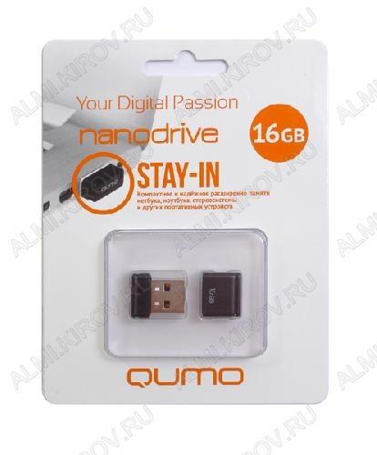 Карта Flash USB 16 Gb (NanoDrive Black mini) USB 2.0