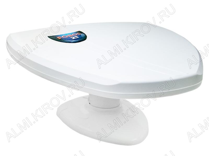 Антенна комнатная ФОБОС 2.1 DX активная ДМВ/DVB-T2; 42dB; блок питания 5V; с кабелем 1.8м