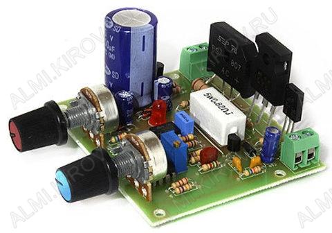 Радиоконструктор Лабораторный блок питания 12:24В (0.01...3A) RP178 С регулировкой выходного тока и напряжения и защитой от К.З;