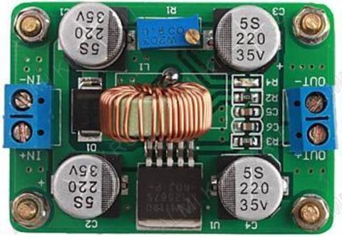 Радиоконструктор Преобразователь DC/DC в 4...30В(5А) из 3,5...30В (RP005) Повышающий.