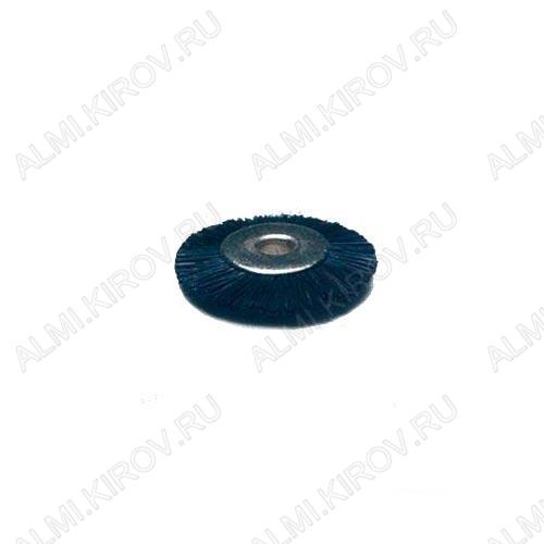 Крацовка радиал. щетинн. жесткая-черная Ф19 16.661, 5543 Диаметр - 19 мм, Материал - щетина жесткая, Производитель - GROBET, Цвет - черный, Диаметр дискодержателя - 2,35 мм
