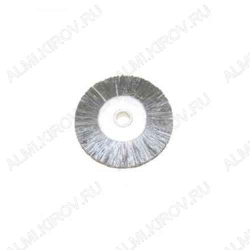 Крацовка радиал. щетинн. средняя-серая Ф19, KG0840 Диаметр - 19 мм, Материал - щетина средняя, Производитель - KYG, Цвет - серый, Диаметр дискодержателя - 2,35 мм