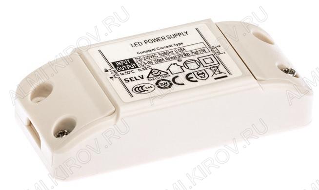 Драйвер светодиодный ARJ-KE38300 12W 300mA (020496) Uвх.=220-240VAC, Uвых.=27-38VDC 300mA