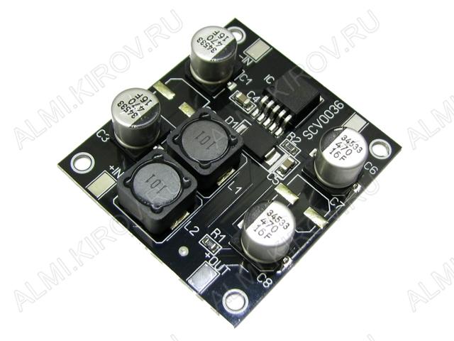 Радиоконструктор Преобразователь DC/DC в 12В(3А) из 5...12В (SCV0036-12V-3A)(Распродажа) Повышающий. Входное напряжение 5..12 В; Выходное напряжение 12 В; Ограничение входного тока ~3 А