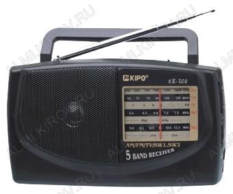 Радиоприемник KB-308AC УКВ 64,0-108.0МГц; Питание 2xR20/220В