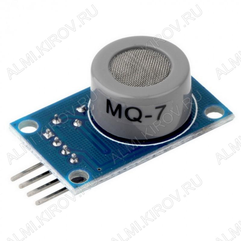 Датчик газа MQ7 (угарный газ), построенный на базе газоанализатора MQ-7