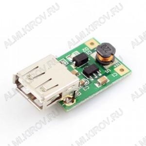 Модуль DC-DC  вх.0.9В~5В - вых.  5В, с USB разъемом. Входное напряжение: 0.9...5 В; Выходное напряжение: 5 В; Выходной ток макс (при питании 3.3 В): 600 мА; Выходной ток макс (при питании 1.6 В): 200 мА