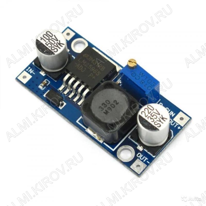 Радиоконструктор Преобразователь DC/DC в 1,5:35В(3А) из 3...40В (LM2596HVS) Понижающий; Uвх 3 до 40В; Uвых 1.5 до 35В;Imax 3А; Частота: 65 кГц; КПД: 92%; Размеры: 43x21x14.
