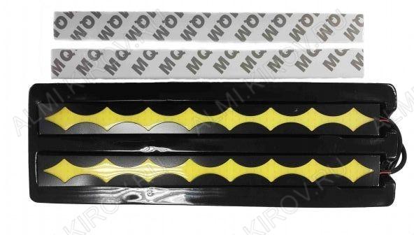 Дневные ходовые огни (арт. G4162-1) (комплект 2 шт.); Напряжение питания: 12В (длина провода 30см); Размер: 205х19 мм