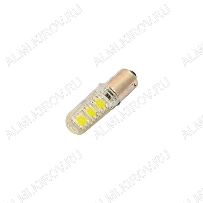 Лампа светодиодная (A26)T8 BA9S Crystal 12V (цвет белый) автомобильная