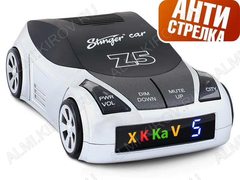 Радар-детектор Stinger Car Z5 STR Диапазон X, K, Ka, Ultra-X, Ultra-K, Laser, VG-2. Обзор от лазера 360гр.