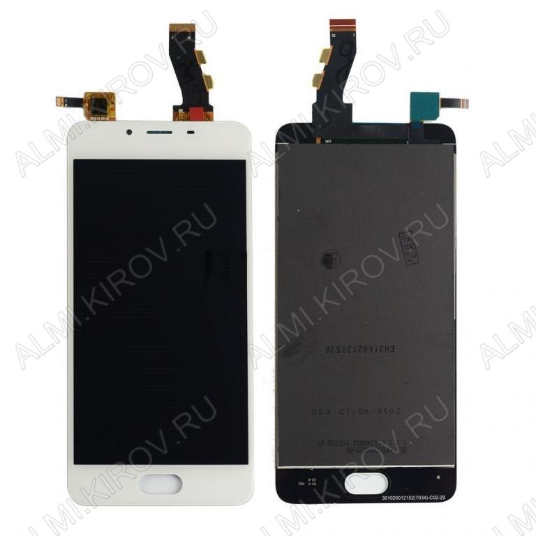 Дисплей для Meizu U10 + тачскрин белый