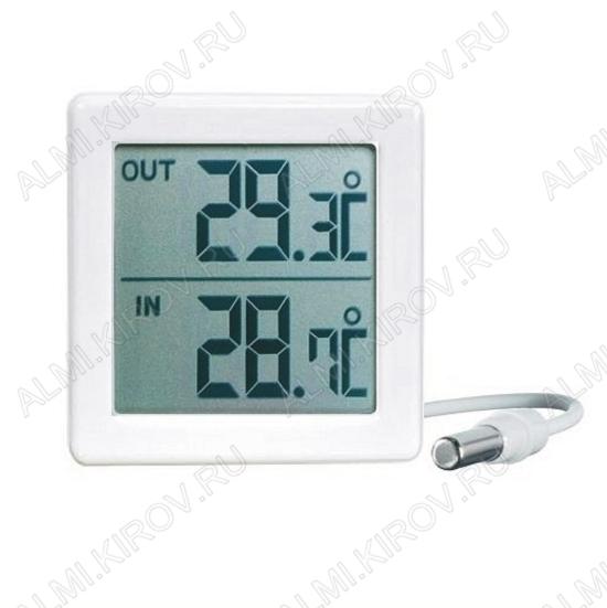 Термометр цифровой TM1053 Измерение наружной и внутренней температуры (гарантия 6 месяцев)