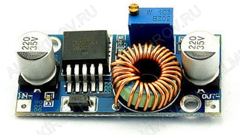 Радиоконструктор Преобразователь DC/DC в 0,8...24В(5А) из 5...32В (RP042) Понижающий. Частота преобразования 180 кГц;