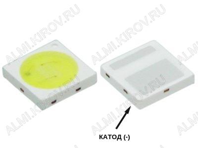 Светодиод SMD 3030 CW 15000K 200mA 6V Double Chips (Холодный белый)
