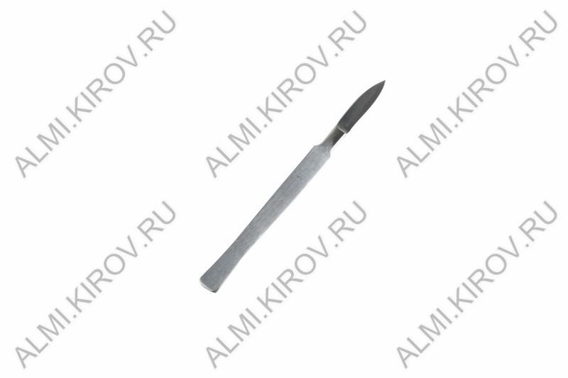 Нож-скальпель средний остроконечный СО-03 (12-4303-8) Размер: 150 мм; Материал: нержавеющая медицинская сталь.
