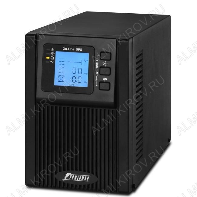 ИБП - UPS Online 1000, интерфейс USB, с двойным преобразованием энергии, правильная синусоида 1000BA/800Вт; АКБ 12В 9Ah -2шт.; Время переключения 0мс; Розетки 2шт.; RJ11/RJ45, RS232, слотSNMT; Габариты упаковки 440х208х310мм.; Вес 11кг.