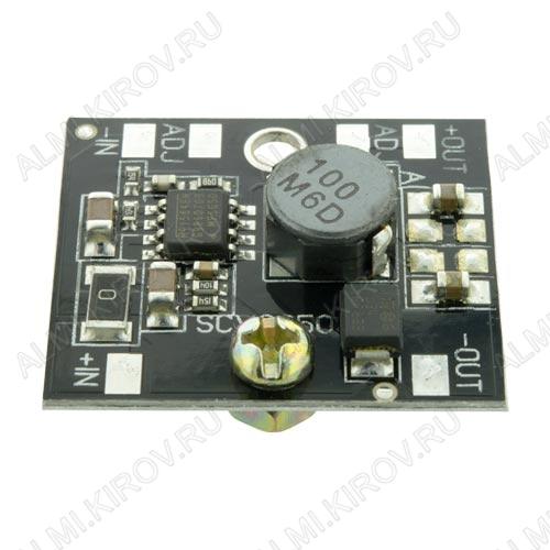 Радиоконструктор Преобразователь DC/DC в 3,3В(3А) из 5,2...25В (SCV0050-3.3V-3A) Понижающий. Входное напряжение 5.2..25 В;Выходное напряжение 3.3 В;Выходной ток, не более 3 А ;Тепловая защита, и ограничение по выходному току