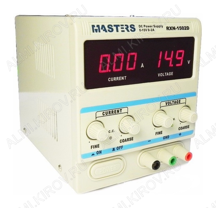Источник питания  1502D 0-2 ампер; 0-15 вольт; (гарантия 6 месяцев)