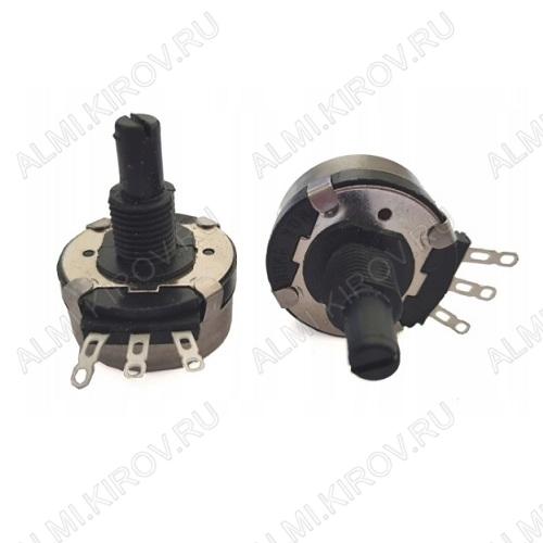 Потенциометр 4K7 №21 для сварочного аппарата пластиковый вал 20 мм, D=28мм