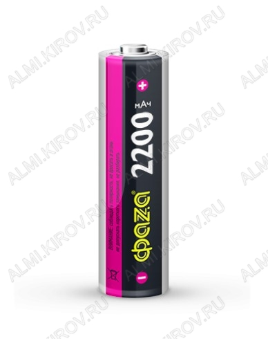 Аккумулятор 18650 (3,7V, 2200mAh) LiIo; 18.5*65.5мм;                                                                                                               (цена за 1 аккумулято