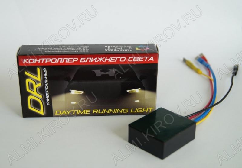 Контроллер ближнего света универсальный (постоянный минус) 12В, плавное автоматическое включение фар при запуске двигателя и отключение света после остановки