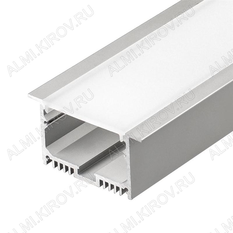 Профиль врезной SL-LINIA62-F-2000 ANOD (019292)  для LED-ленты шириной до 38мм размеры: 2000*62*32мм (паз для установки 49*30.6мм); фланец