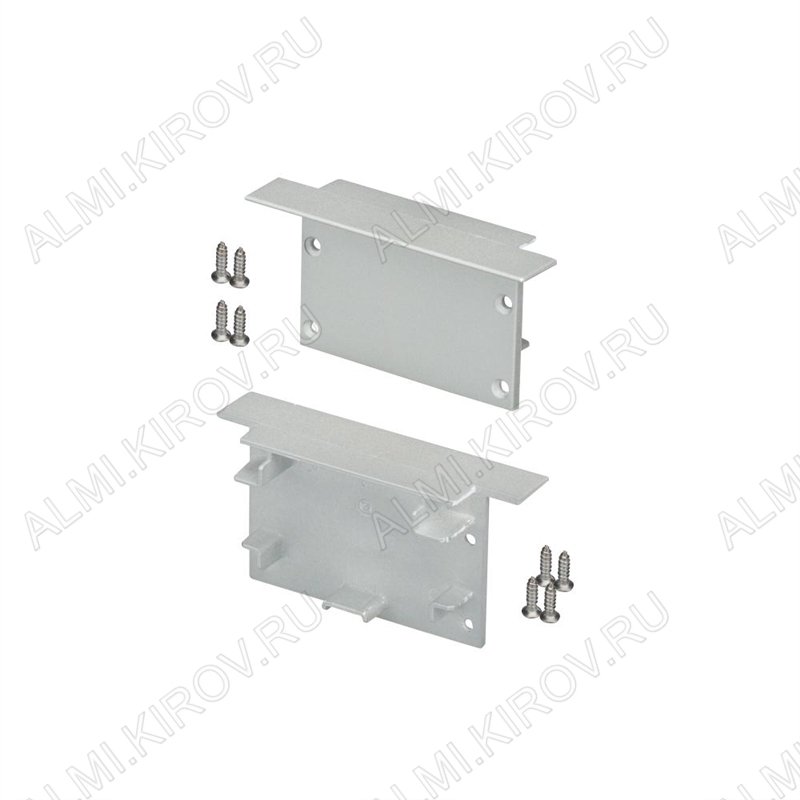 Заглушка SL-LINIA62-F (019294)  для профилей SL-LINIA62-F-2000 ANOD, SL-LINIA62-F-2500 ANOD+OPAL комплект: 2 заглушки, 8 шурупов; глухая; пластик