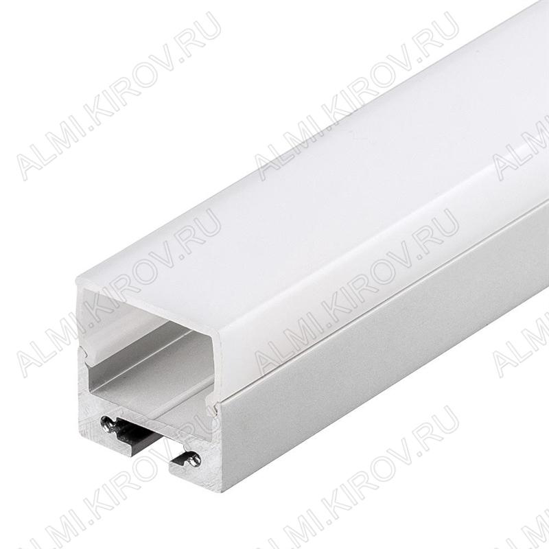 Профиль подвесной SL-LINE-2011-2500 ANOD+OPAL Square (020494)  для линейных светильников размеры: 2500*20*11мм; комплект: профиль, экран