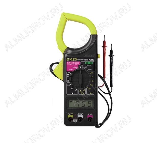 Токовые клещи M266C измерение тока: AC