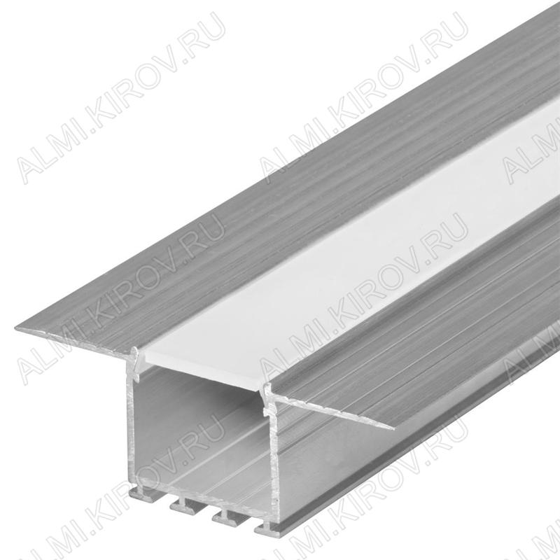 Профиль врезной PLS-LOCK-H25-F-HIDE-2000 (019409)  для LED-ленты шириной до 20мм размеры: 2000*67*25мм