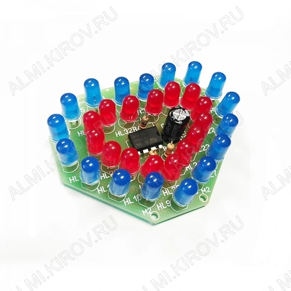 Радиоконструктор Бьющееся сердце NM0202 (питание 9В) Напряжение питания 9В; Максимальный потребляемый ток 50мА; Габритные размеры 57x48x20мм