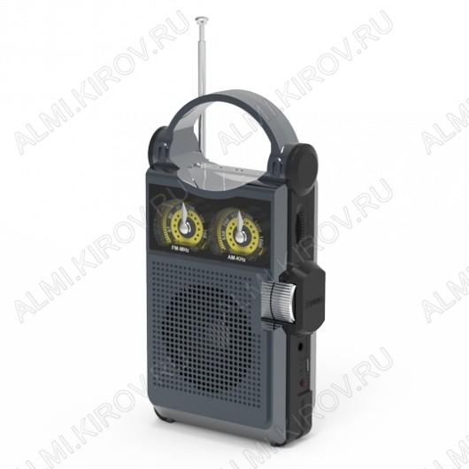 Радиоприемник RPR-333 CARBON УКВ 88,0-108.0МГц; разъем USB, microSD; Питание от аккумулятора