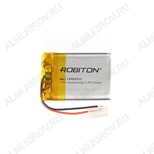 Аккумулятор 3,7V LP402535-PCB-LD 320mAh Li-Pol; 25*35*4,0мм                                                                                                               (цена за 1 аккумулят