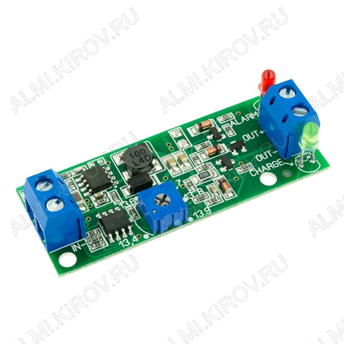 Радиоконструктор Контроллер заряда АКБ 12В SCD0049-0.4A (для свинцово-кислотных АКБ 12В от 4Ач) Напряжение питания 16..25 В/Максимальный ток заряда 0.4 А