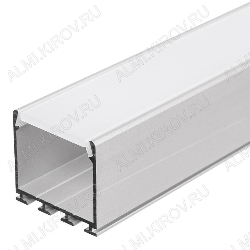 Профиль накладной PLS-LOCK-H25-2000 ANOD (016386)  для прямоугольных светильников, LED-ленты шириной размеры: 2000*26*25мм