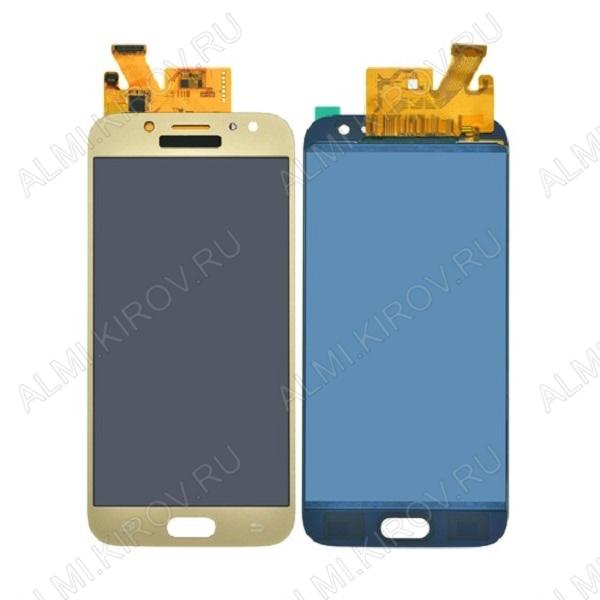 Дисплей для Samsung J530F Galaxy J5 (2017) + тачскрин золото, копия (яркость регулируется)