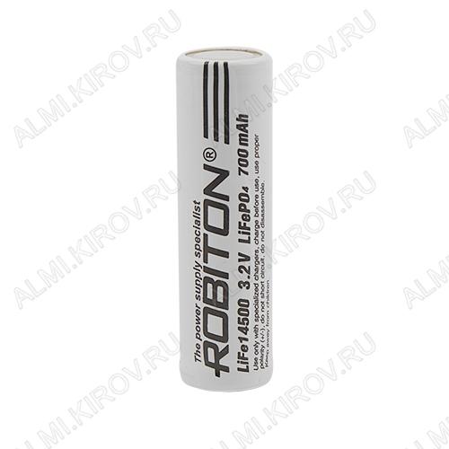 Аккумулятор 14500 (3.2V, 700mAh) LiFe LiFePO4; 14.1*48.5мм, без защиты                                                                                                               (цена з