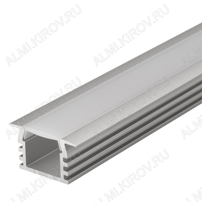 Профиль врезной PDS-F-2000 ANOD (012083)  для LED-ленты шириной до 11мм размеры: 2000*22*12мм