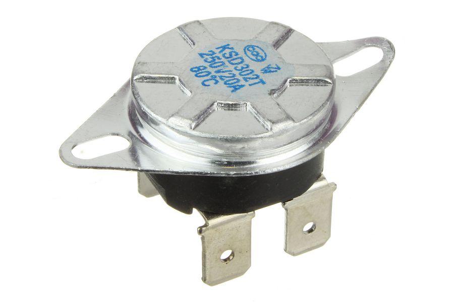 Термостат 093°С KSD302X 250V 20A с кнопкой