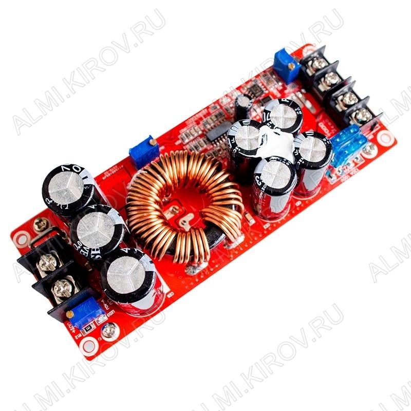 Радиоконструктор Преобразователь DC/DC в 12...80В (18А) из 10...60В (SZ-BT07CCCV-A) Повышающий. КПД от 92 до 97%; Частота преобразования : 150 КГц; Защиты: от перегрузки по току, на 25А, от КЗ на 30А; Размер: 130*52*53мм