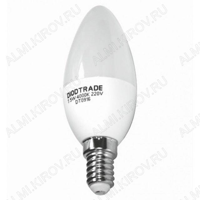 Лампа светодиодная 220В/ 11Вт/ E14/ 3000К (теплый белый) (L480)/ 950lm (DT0003-9);